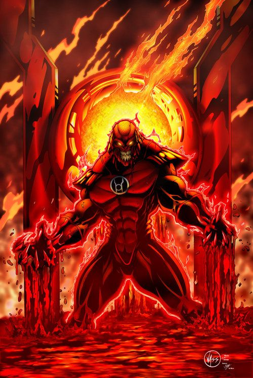 Red Lantern - Atrocitus Art by knytcrawlr | Red lantern, Red ...