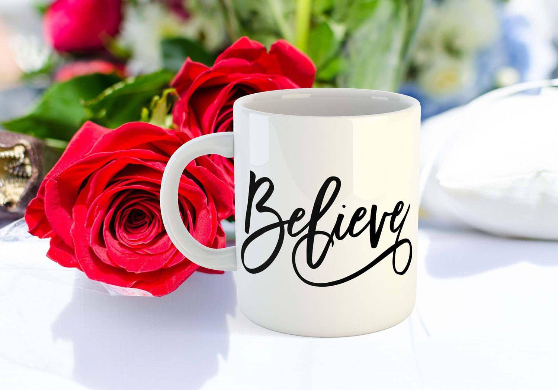 Believe coffee mug christian mug easter gift mug quote easter mug believe coffee mug christian mug easter gift mug quote easter mug unique gifts mug with sayings negle Images