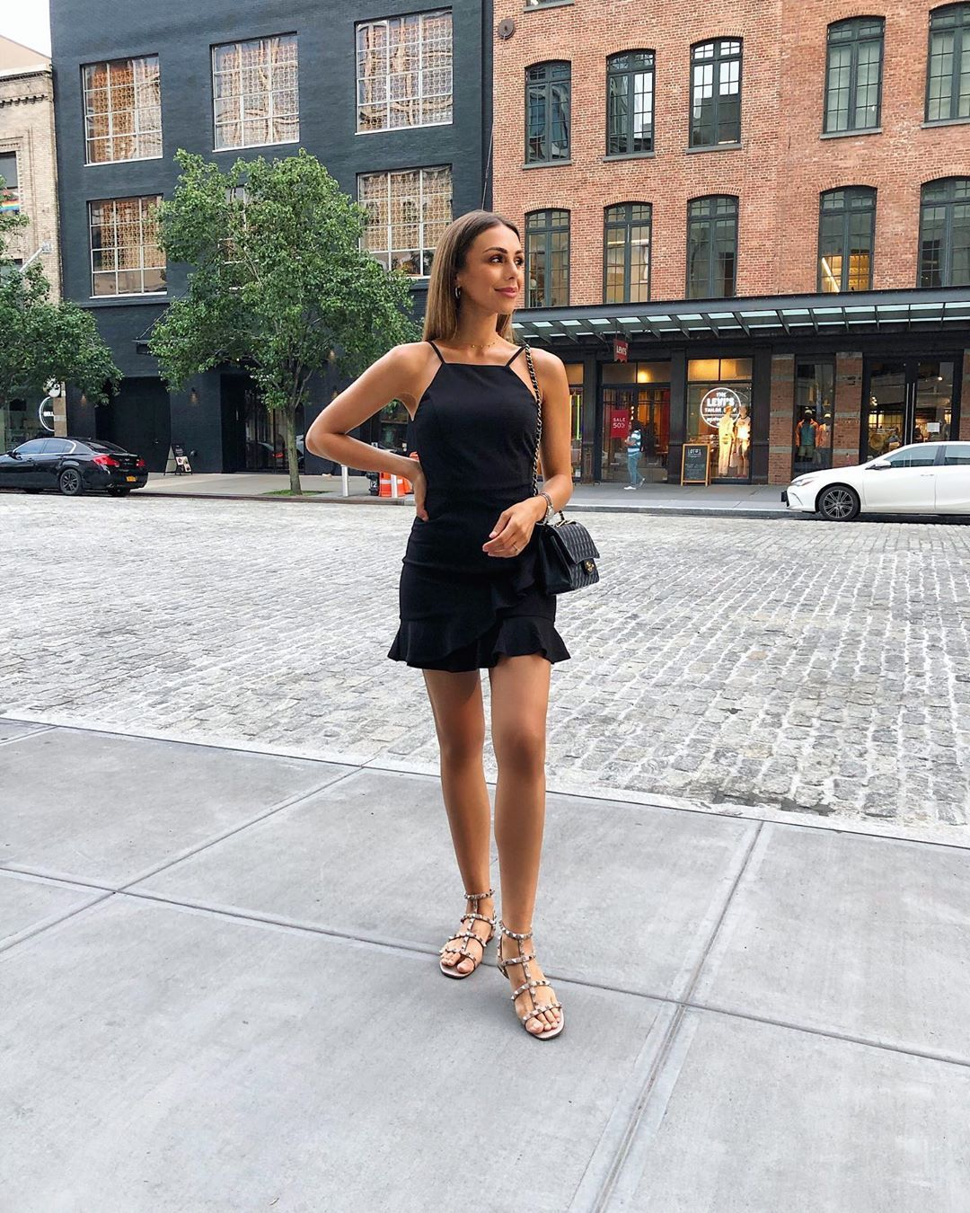 Annie Jaffrey On Instagram A Warm Summers Night Out In New York Love This Little Black Black Dress Casual Summer Simple Summer Dresses Little Black Dress [ 1350 x 1080 Pixel ]