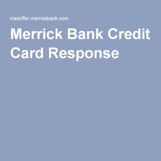 Merrick Bank Credit Card Application Offer Verification Credit Card Application Bank Credit Cards Credit Card