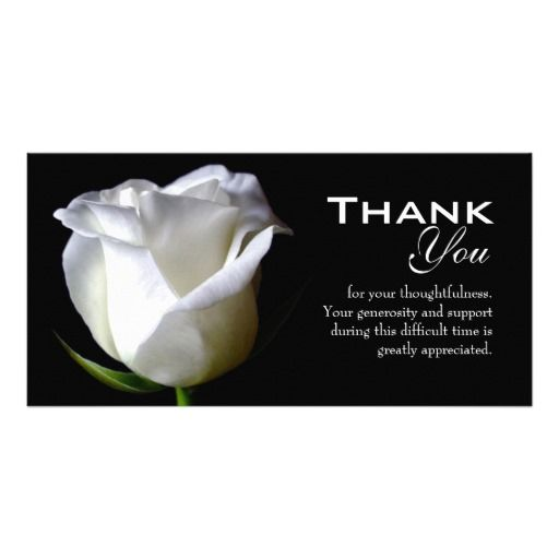 Quotes About Thank You For Support: Sympathy / Funeral Thank You Photo Card