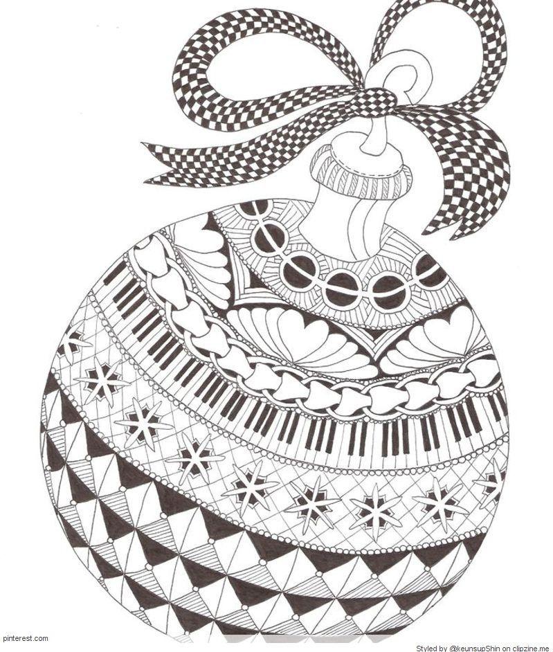 Christmas Zentangle Patterns Christmas Coloring Pages Christmas Ornament Coloring Page Zentangle Patterns