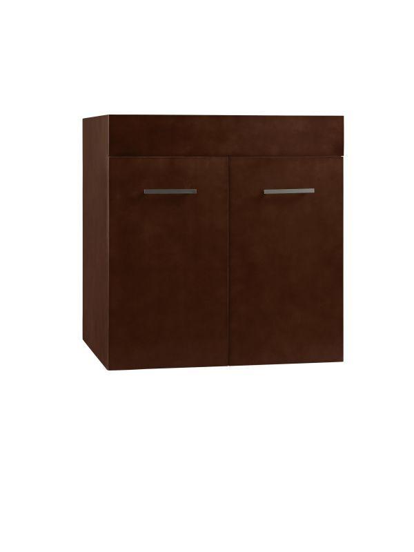 "RonBow 011223 Bella 23"" Hardwood Wall Mounted Vanity Cabinet Only with Double Do Dark Cherry Fixture Vanity Single"