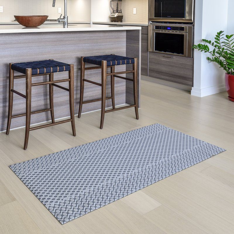 Oberle All Weather Modern Runner Kitchen Mat Gray Kitchen Rugs Kitchen Rugs Washable Kitchen Rug