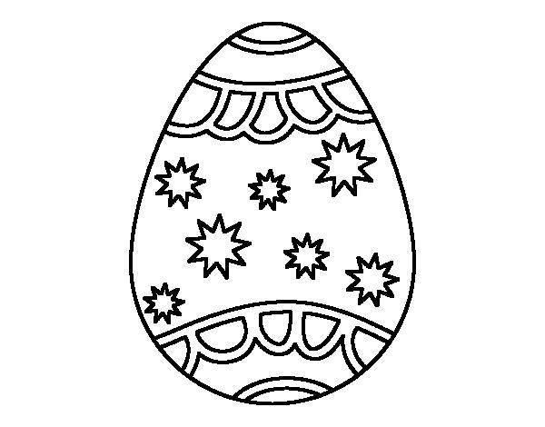 Dibujo de Huevo con estrellas para colorear | Dibujos | Pinterest ...