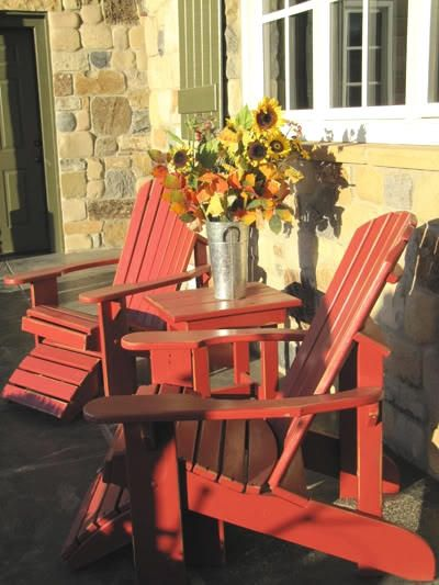 Adirondack Chairspainting Mine In Bright Blue Rather Then Red