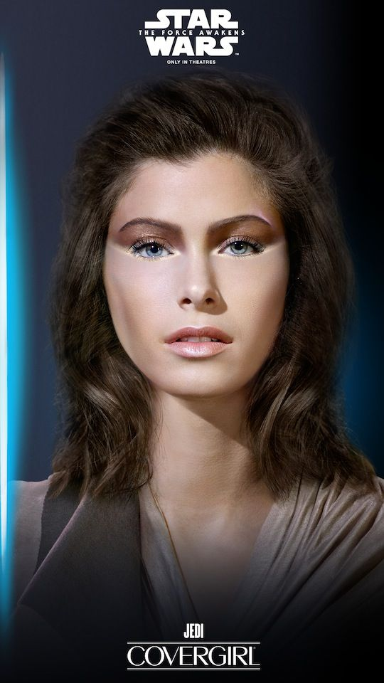 ecf0ff65a98cd7 Jedi Look with makeup for Halloween