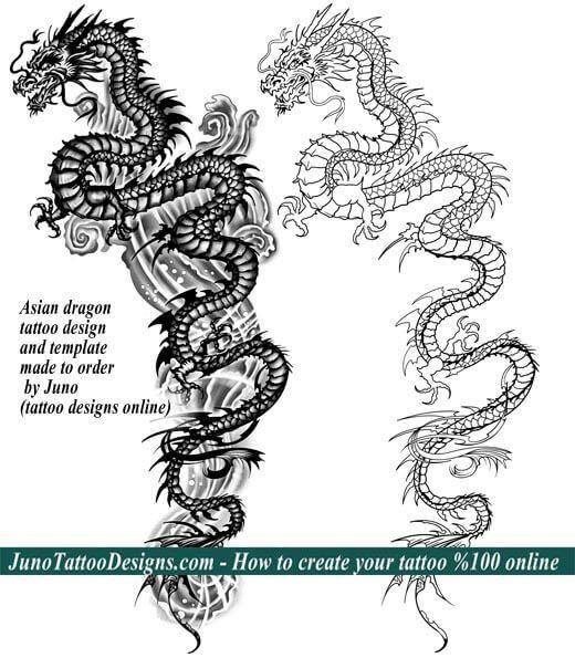 Asian Dragon Tattoo Back Juno Tattoo Designs  Tattoo
