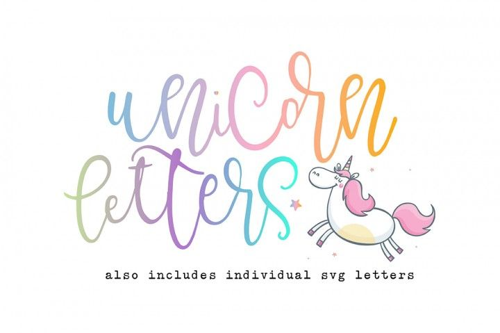 Gorgeous Font Perfect For Crafting Unicorn Letters By