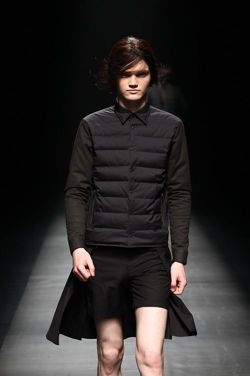 New shirt and outerwear hybrid from Christian Dada at Mercedes-Benz Fashion Week Tokyo.