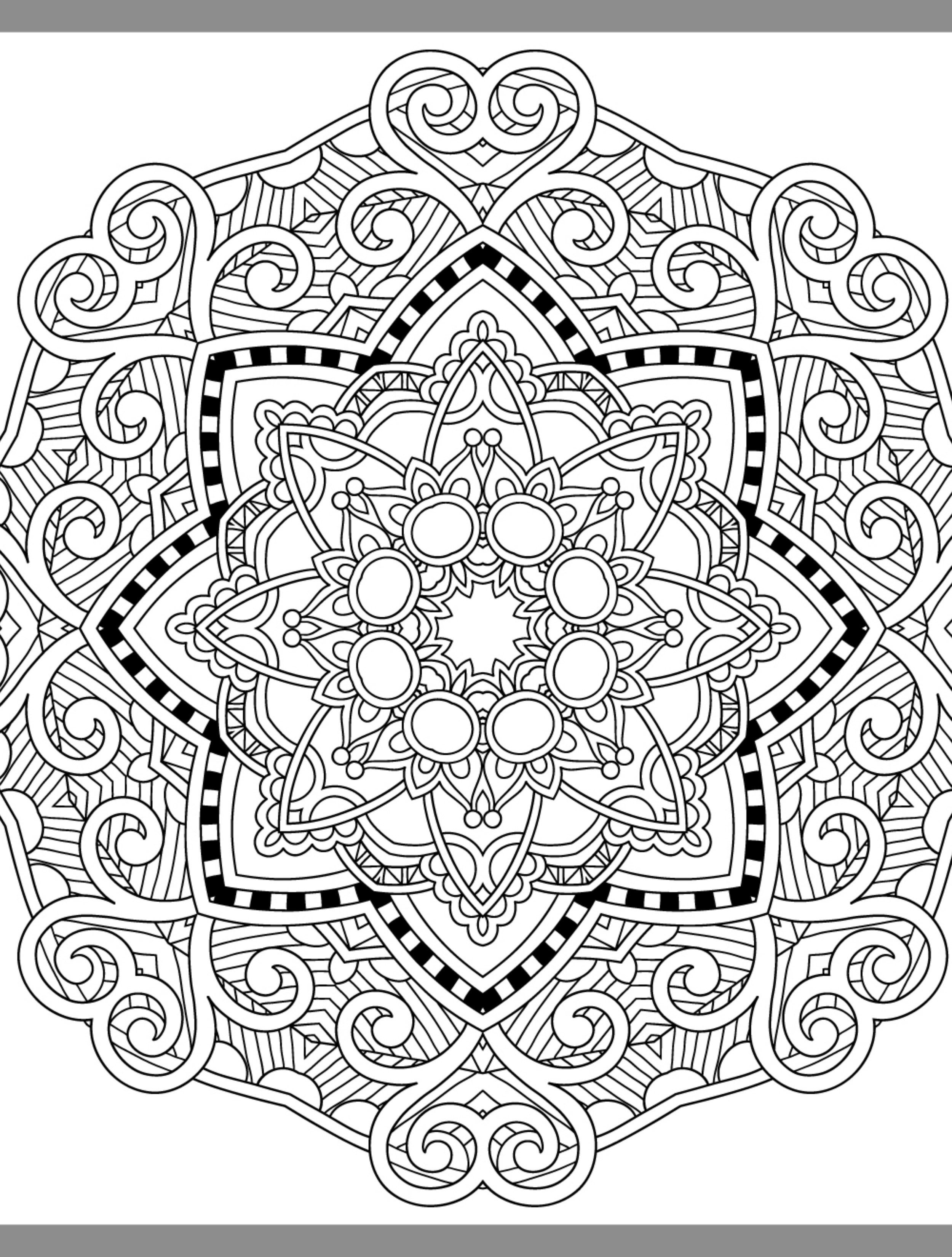 24 More Free Printable Adult Coloring Pages | Printable ... | free online mandala coloring pages for adults