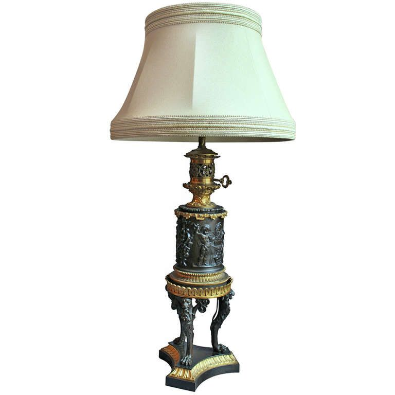 Former Hadrot Oil Lamp Converted To Electric Lamp Jacques Antiques Oil Lamps Lamp Electric Lamp
