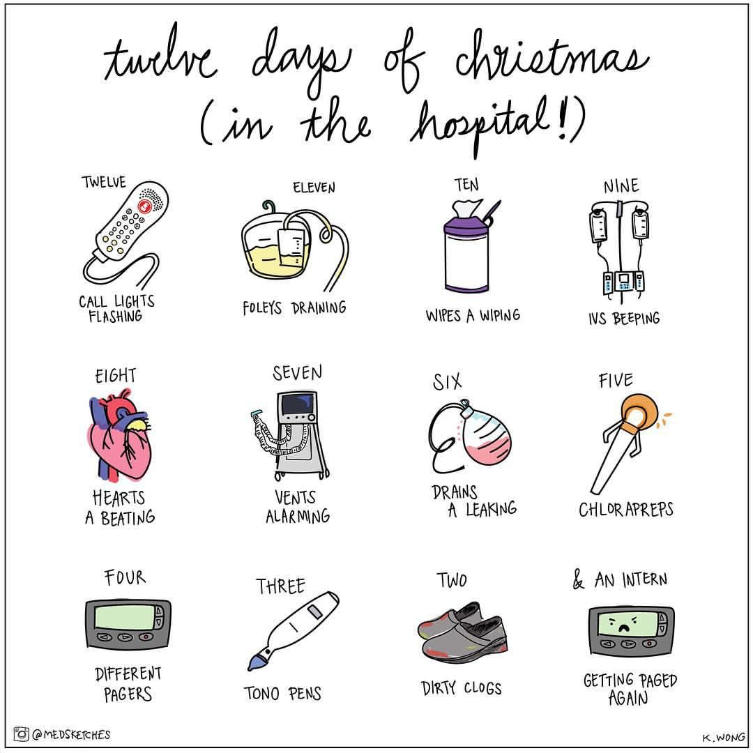 12 days of Christmas in hospital