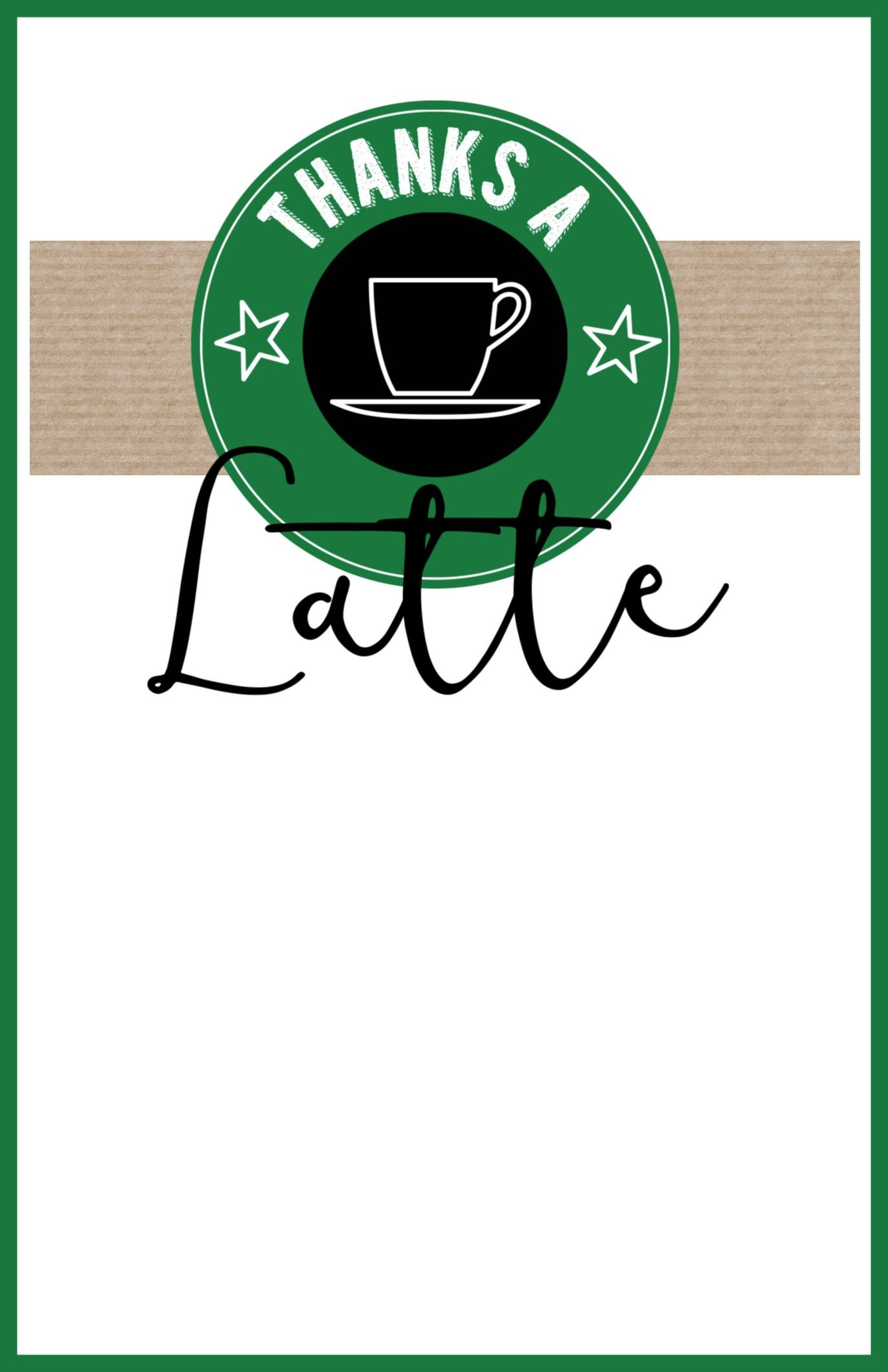 photo regarding Starbucks Printable Application named Starbucks Trainer Thank By yourself Printable Present notion Instructor