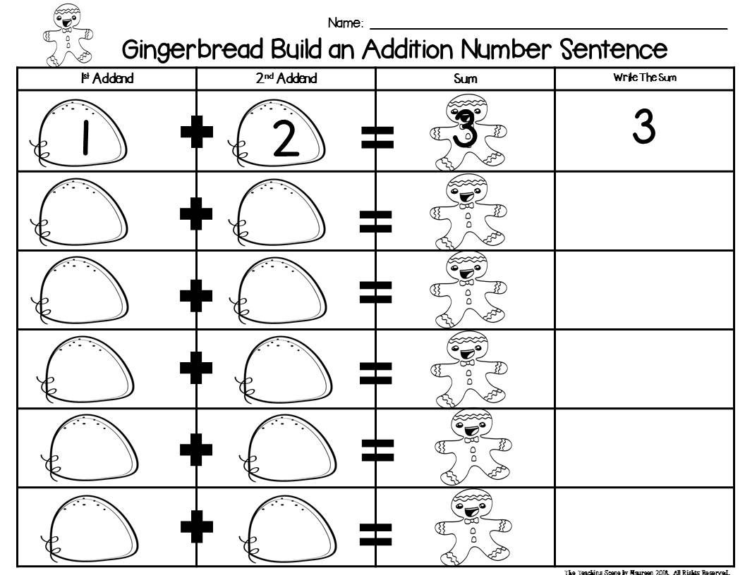 Gingerbread Build 2 Addend 0 20 Addition Amp Subtraction