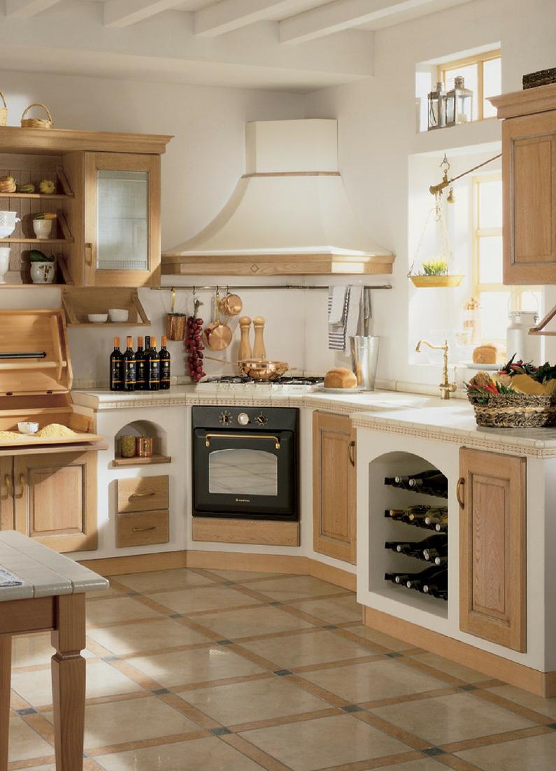 Landhausküchen aus Holz: Bilder & Ideen für rustikale ...