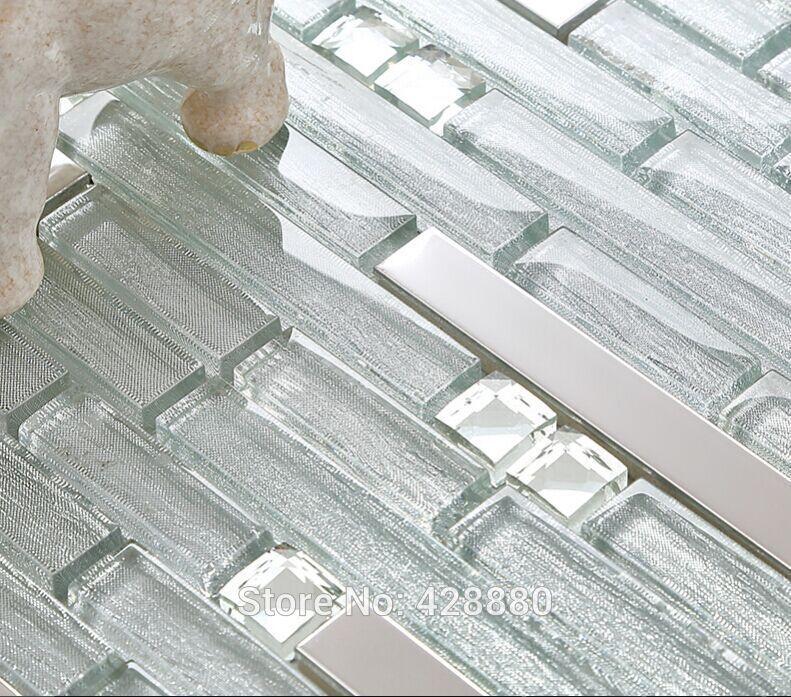 Stainless Steel Glass Tile Backsplash Home Pinterest Stainless