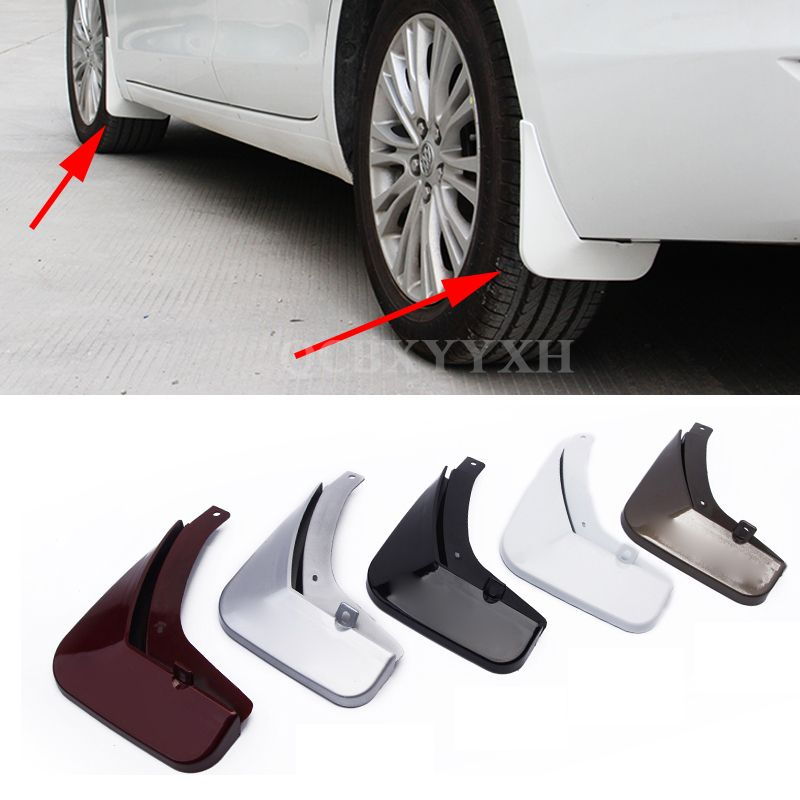 4pcs Car Styling ABS Mud Flap Splash Guard Mudguard Mudflap Fender Perfector For Buick Excelle GT/XT 2009-2014 Excelle 2015 2016