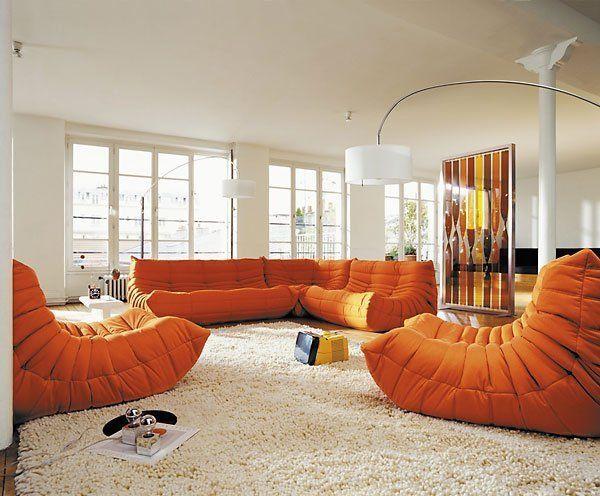 The Togo Sofa And 3 Cheaper Alternatives Sofa Design Togo Sofa Orange Sofa