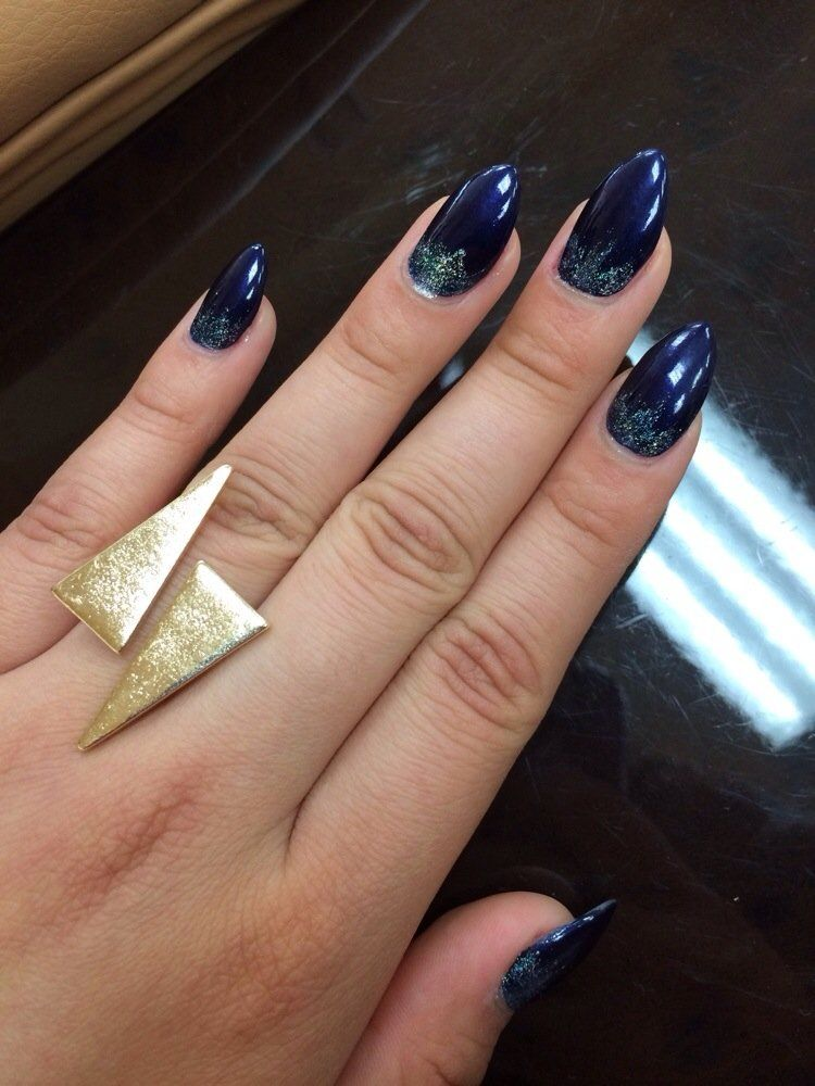In love with my navy blue stiletto nails! Thank you so much sunny ...