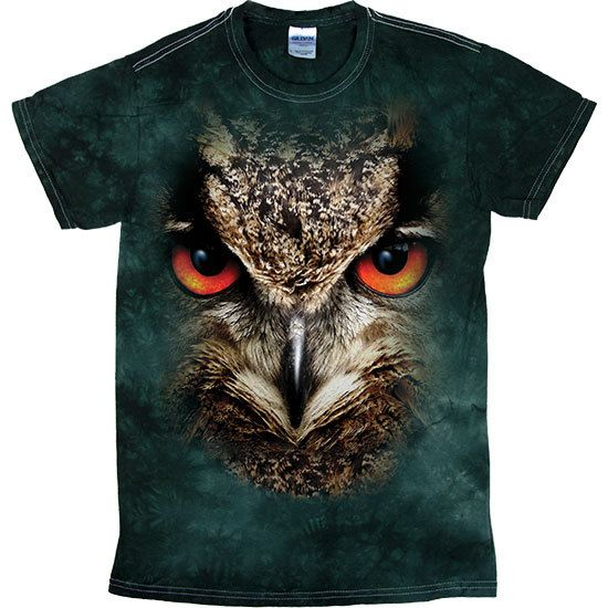 [Tie Dye Tee] - Oversized Owl - Artopia | With the Tie Dye pattern, no two shirts are the same!Our Tie Dye Tee is made with 5.3 oz. 100% cotton and is preshrunk.