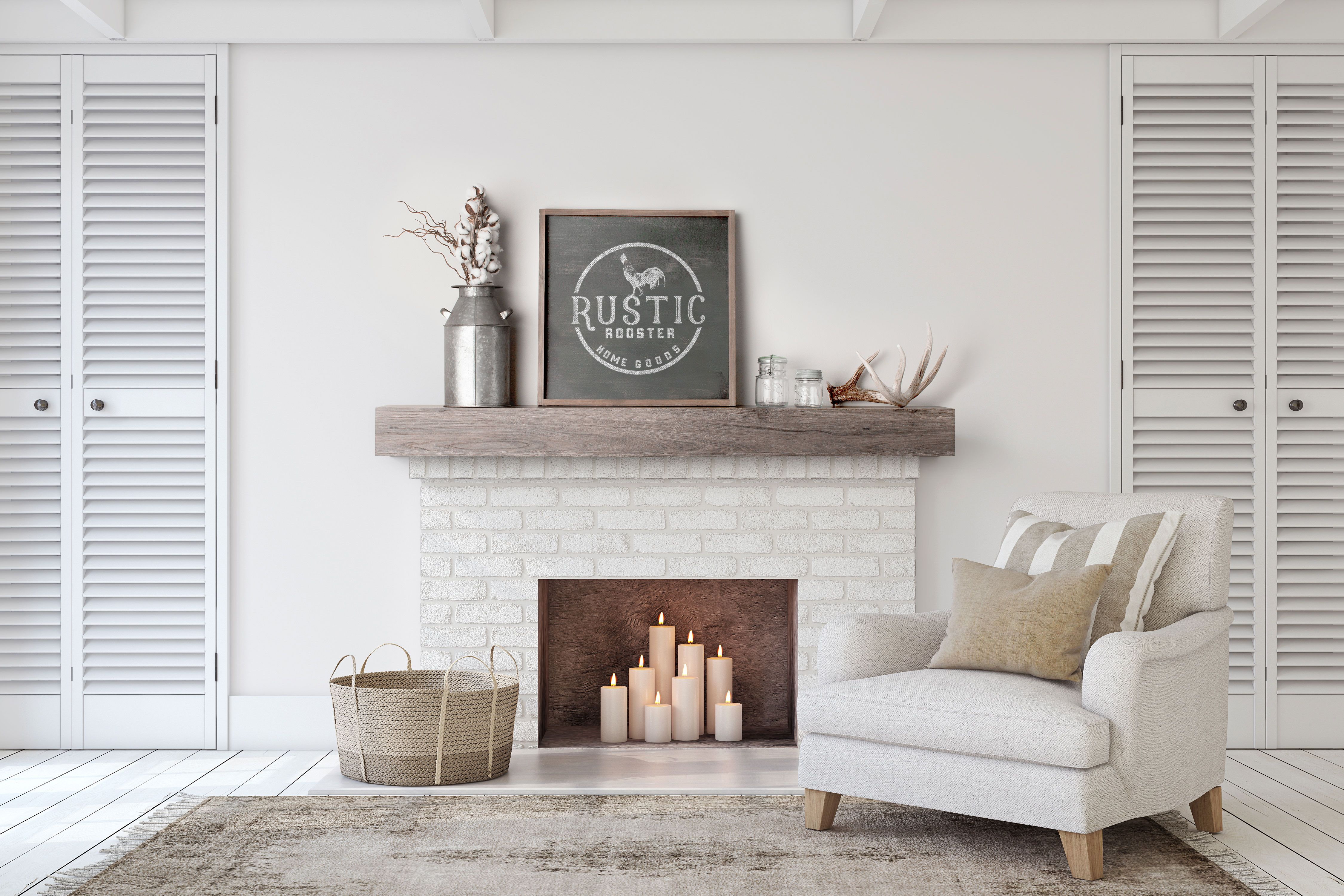 Fireplace Mantel Multiple Grain Patterns and Option   Etsy ...