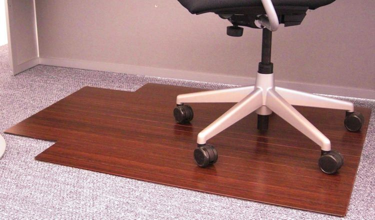 Buy cheap 36 x 48 bamboo roll up chair mat with tongue by