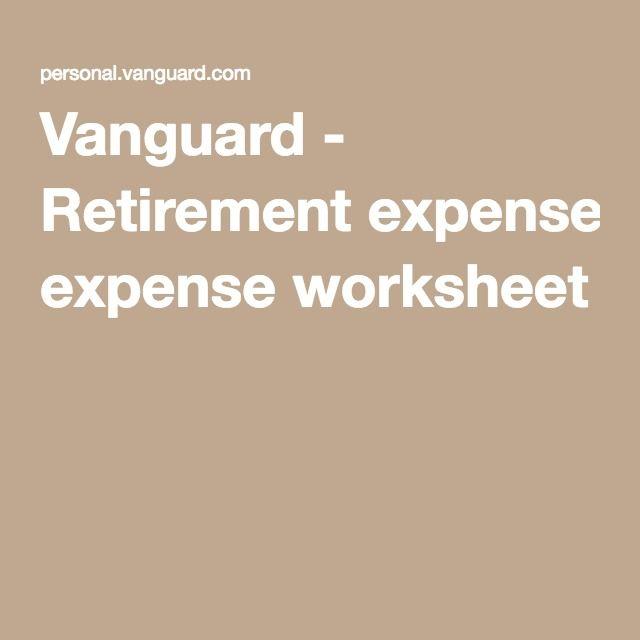 Vanguard Retirement Expense Worksheet Teaching Economics