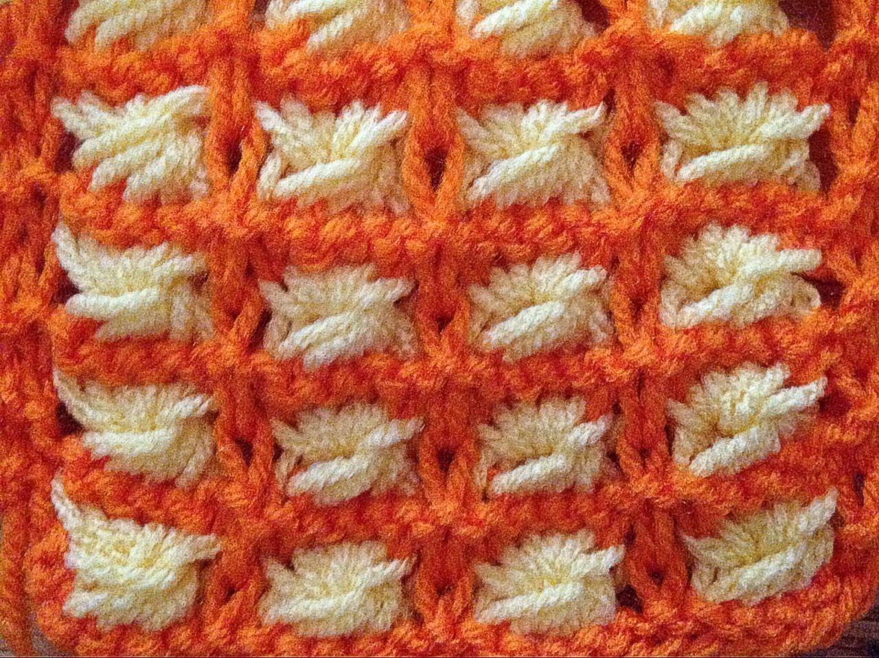 aster flower knitting stitch scarf