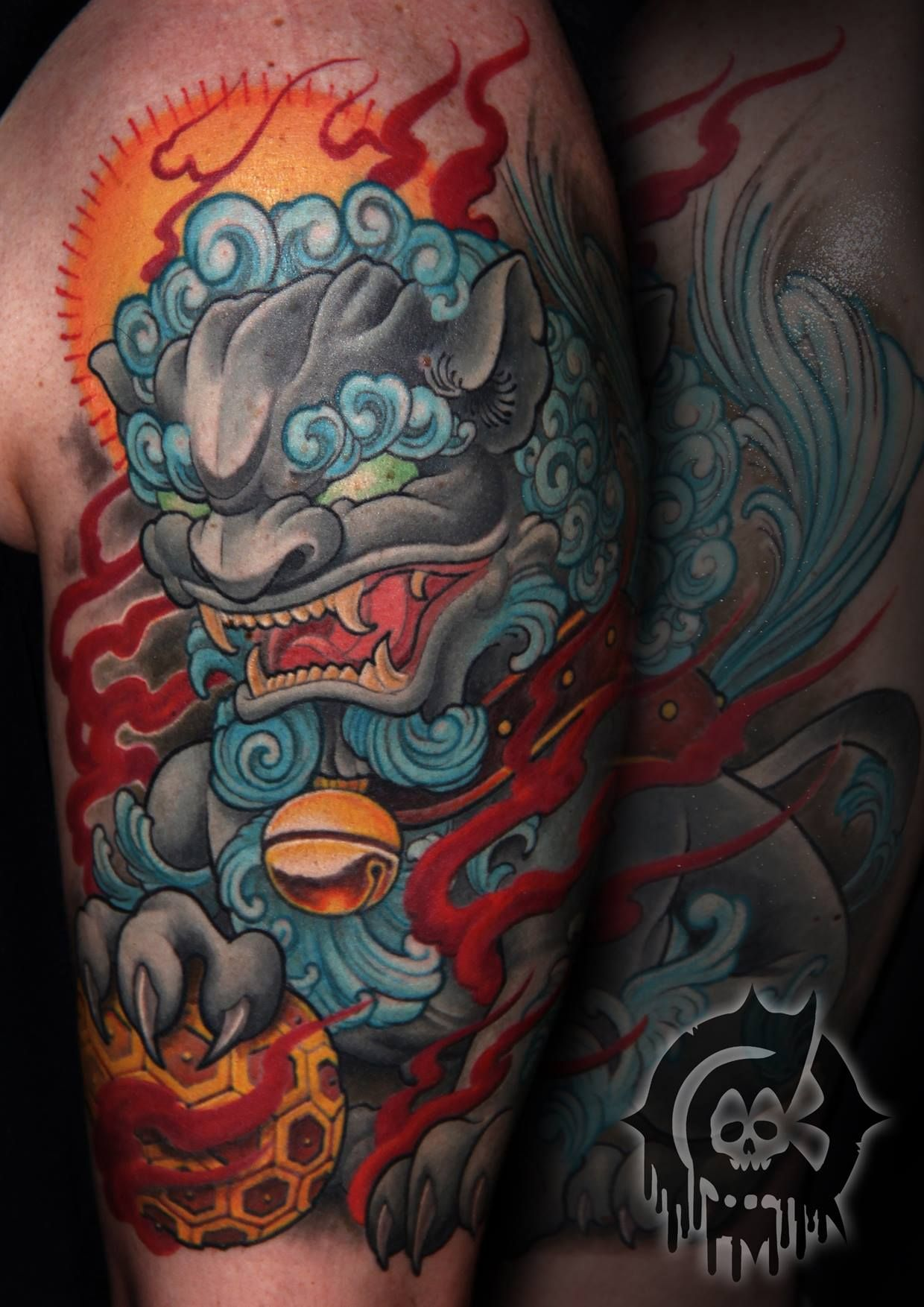 Pin by Steven etzel on Ink Foo dog tattoo design, Foo