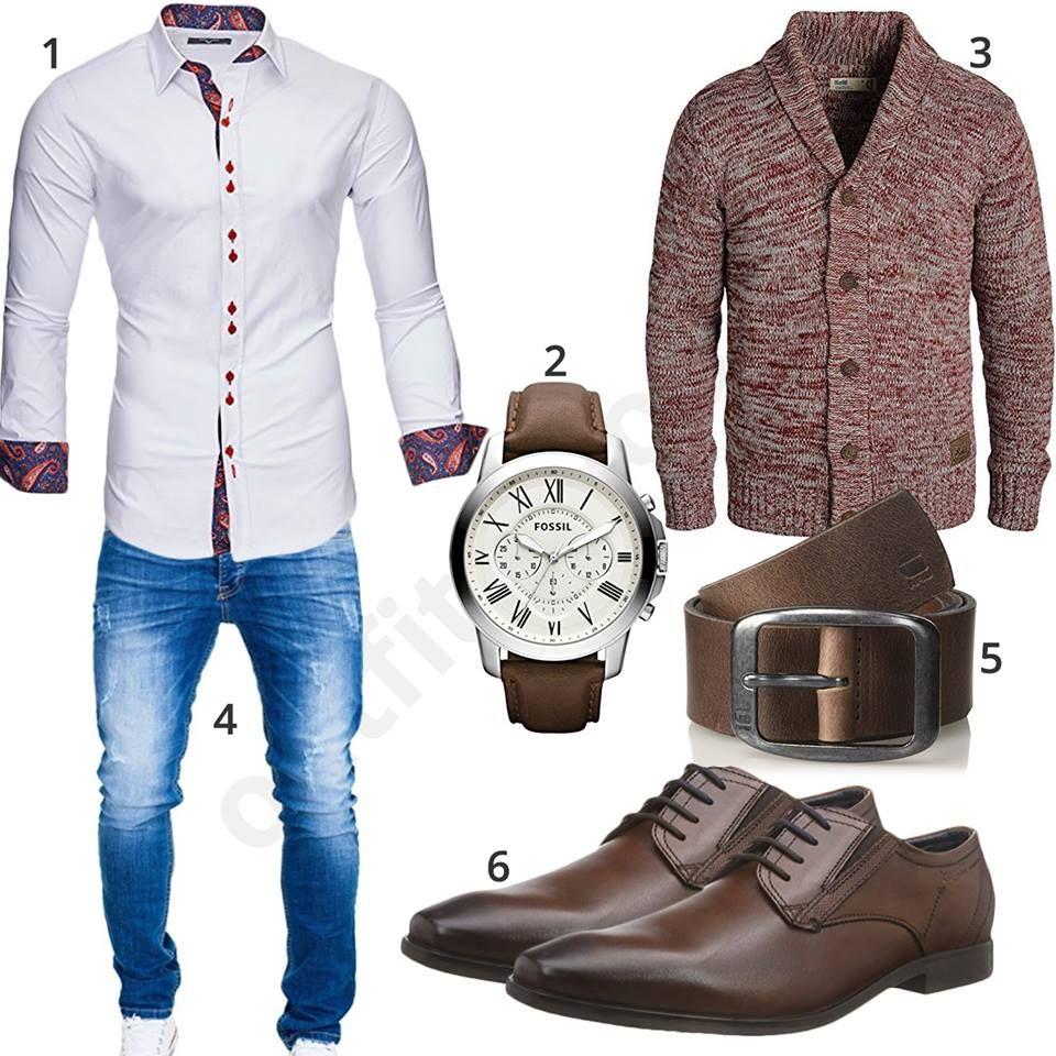 Männer Style mit Hemd und Strickjacke | Lässige herrenmode