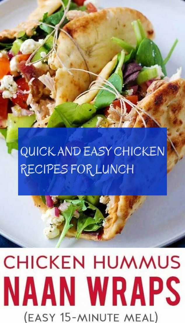 quick and easy chicken recipes for lunch