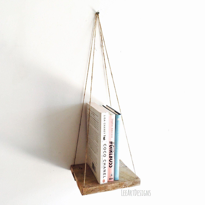Hanging Pallet Shelf, Rustic Decor, Beach Decor, Reclaimed Wood, Furniture,  Book Shelf, Floating Shelf, Swing Shelf, Industrial Shelf Design