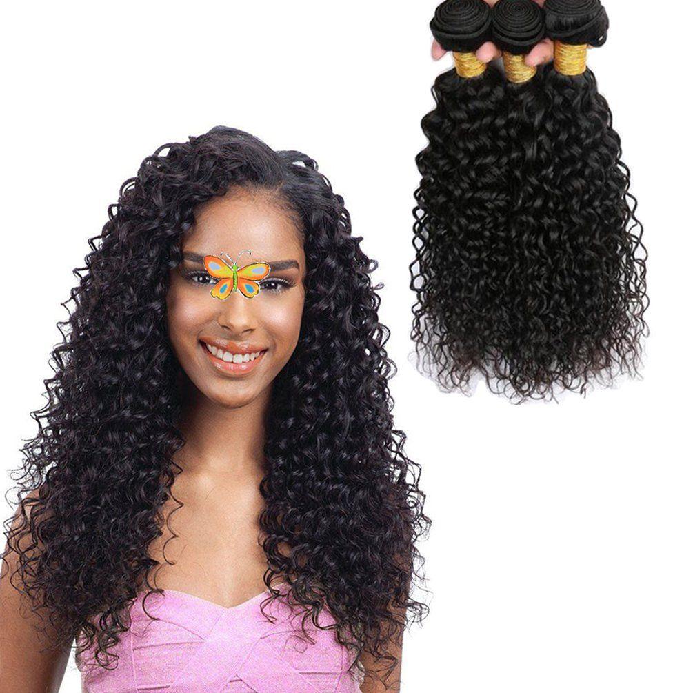 Jinren Brazilian Curly Hair Bundles 18 20 22inch 3 Bundles Of
