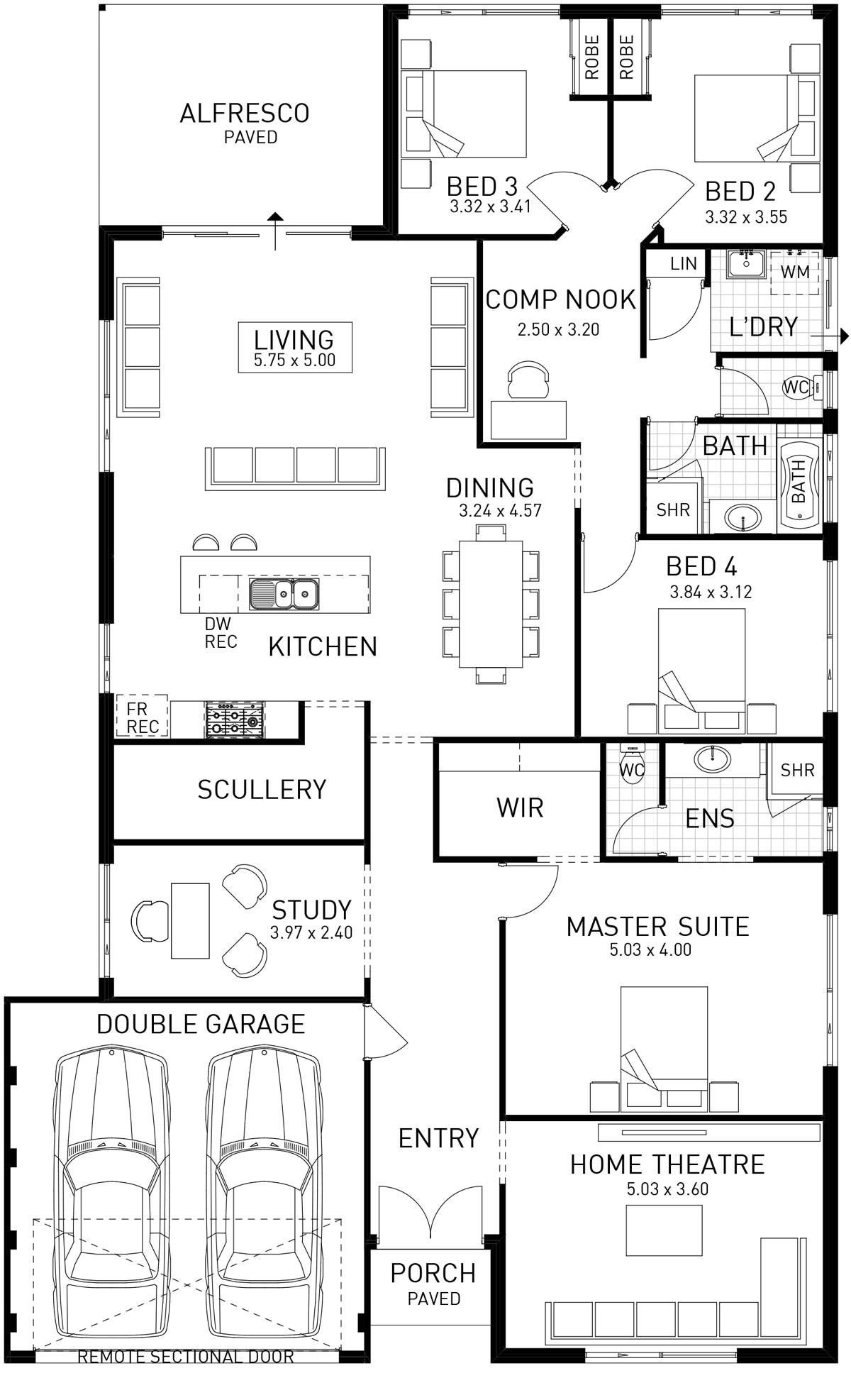 Epic Single Storey Floor Plan Wa House Plans My House Plans House Floor Plans
