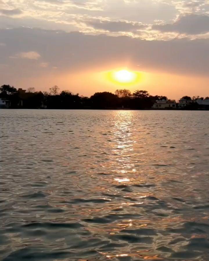 #home #evening #twilight #sunset #instagram #instagood #planet #peace  #chhattisgarh #kawardha #pond #water #reflection #evening #a50samsung #photography #photooftheday