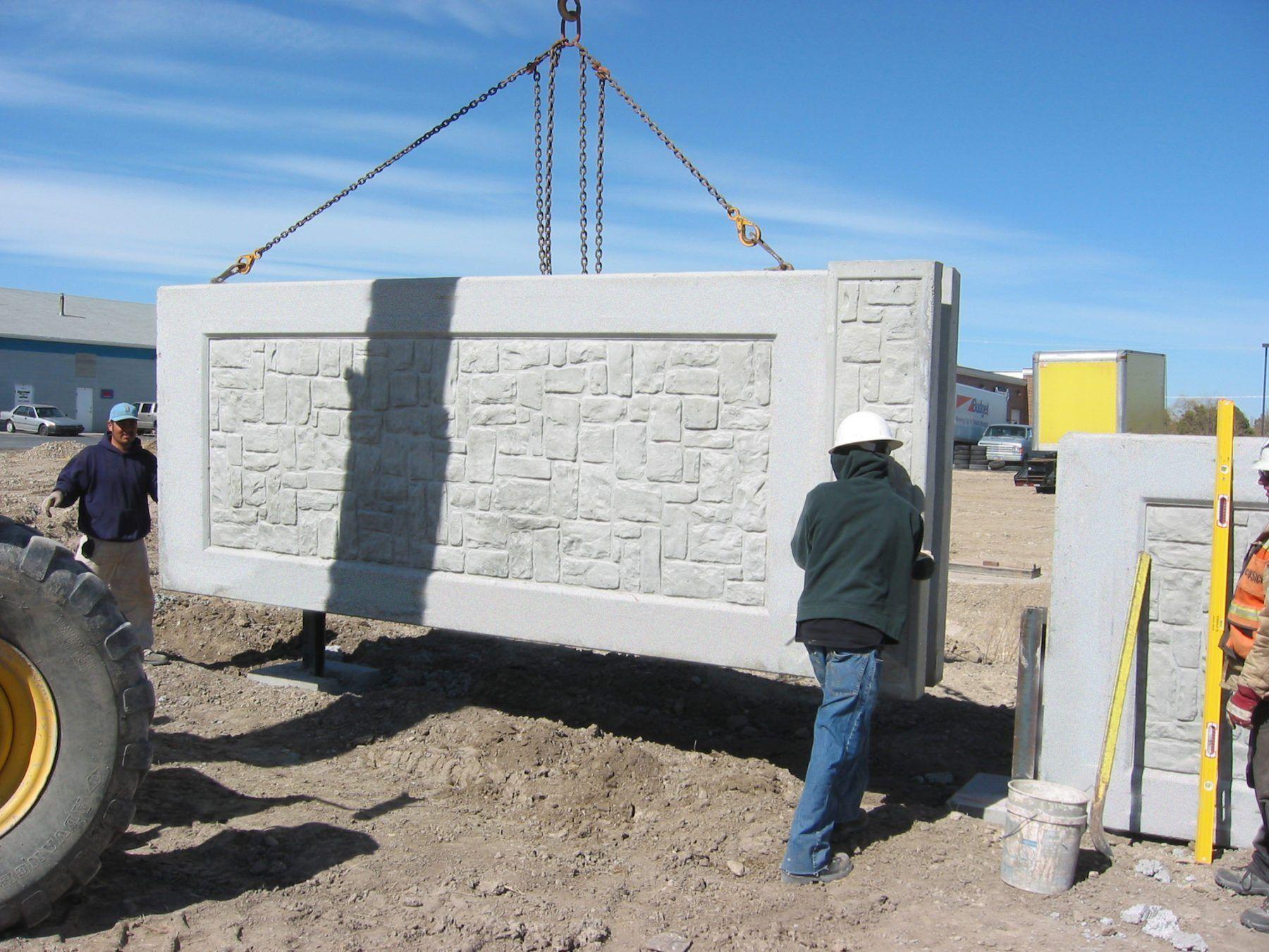 Precast Concrete Fence Walls Are Superior To Poured In Place Concrete Fence Walls Pre Cast Con Concrete Fence Wall Concrete Wall Installation Precast Concrete