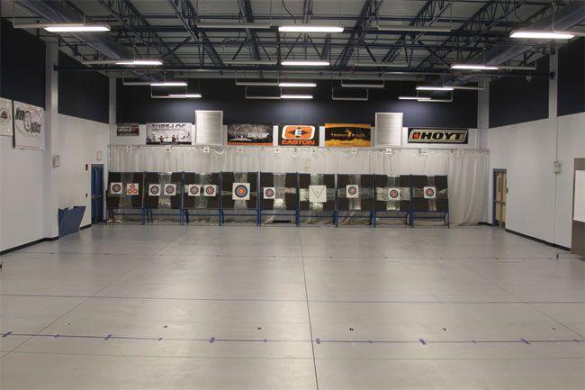 The Indoor Archery Range Easton Newberry Sports Complex Pinterest Archery Shooting Range
