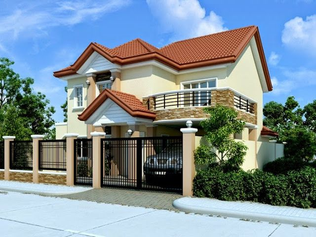 Thoughtskoto 33 Beautiful 2 Storey House Photos Small House Design Flat Roof House Designs Modern House Plans