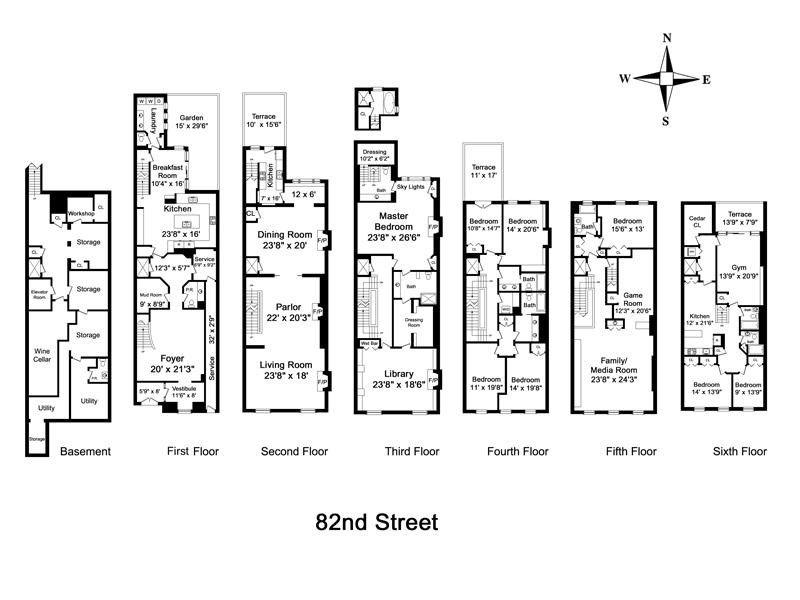 Nyc Brownstone Floor Plan Floor Plans Nyc Brownstone Chicago Brownstone