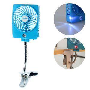 Mini Clip On Desktop Usb Cooling Fan 3 Speeds With Led Light Led Lights Cooling Fan Fan