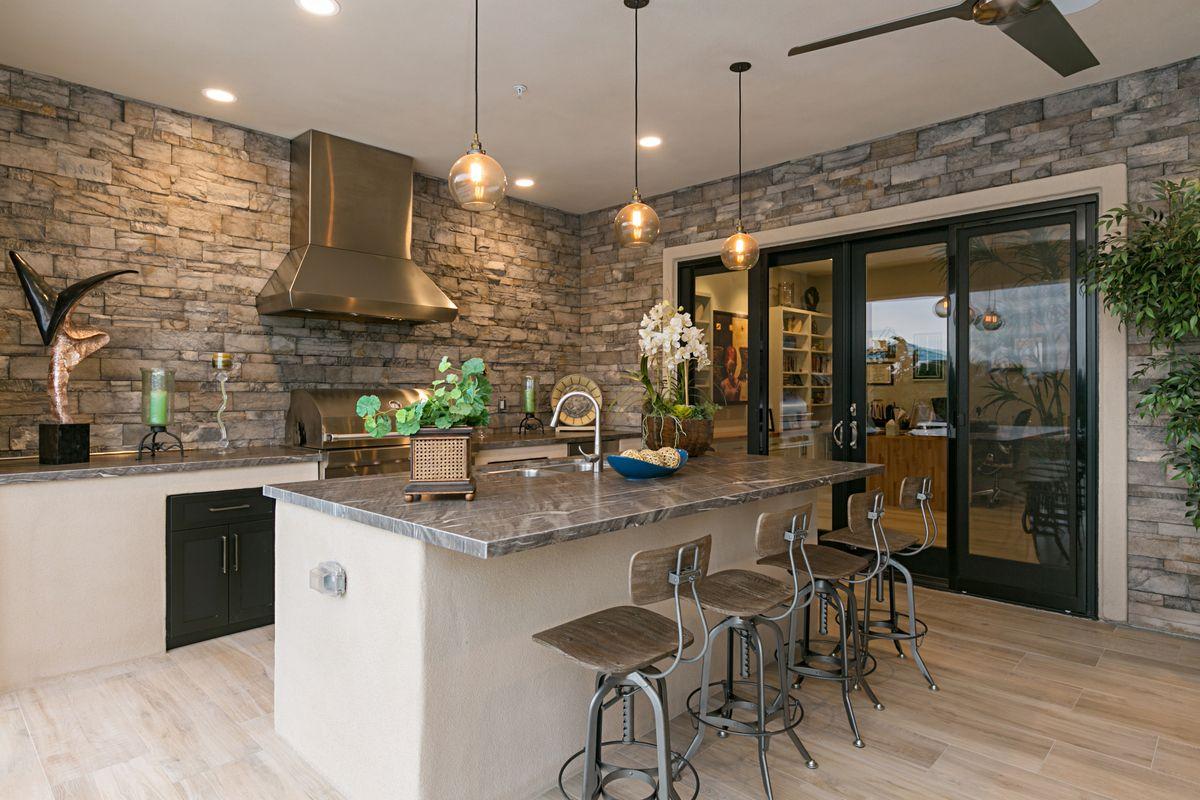 New Home Old Indoor Outdoor Living Outdoor Kitchen Custom Home Builders