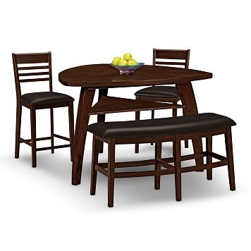 delano dining room 4 pc counter height dinette value city furniture 49996 - Dining Room Sets Value City Furniture