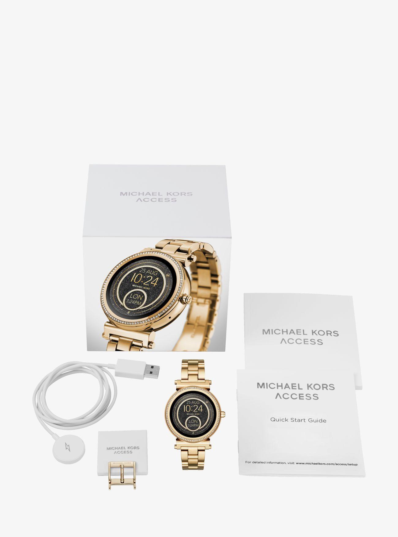 ca238968242f Sofie Pavé Gold-Tone Smartwatch