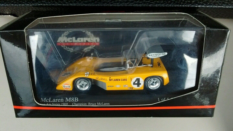 Can Am Limited Edition 69 Mclaren M8b Race Car Cast Model 1 Of 5555 Nib 43