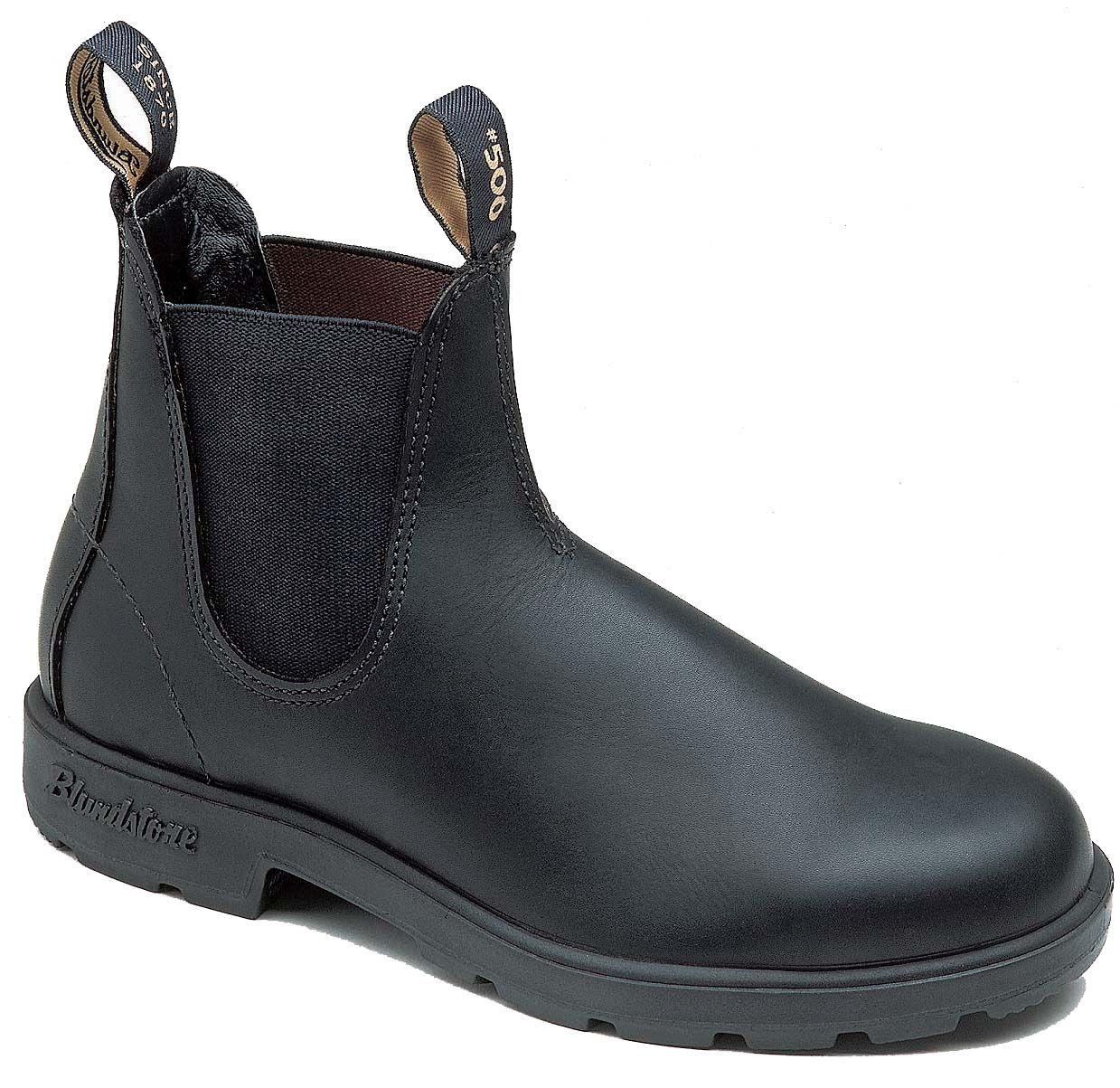 Blundstone Model 510. Den klassiske Blundstone støvle i sort læder og elastik. En støvle til hverdag, fritid og arbejde.