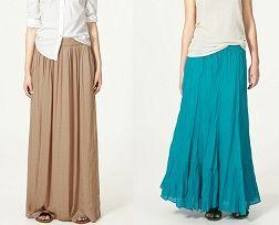 Как сшить длинную юбку?
