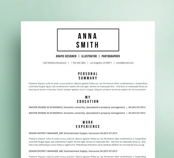 Personal Letter Of Reference Template Resume Template No.7  Cover Letter  Reference Page  Free Business .