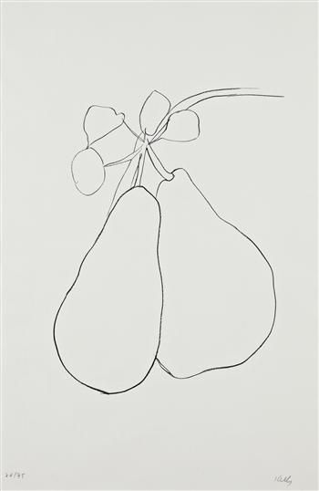 ELLSWORTH KELLY  Pear II (Poire II), from Suite of Plant Lithographs, 1965-66