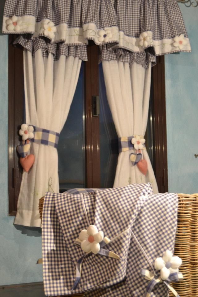 Pin di sissy palermo su tende shabby chic furniture for Tende da cucina stile country